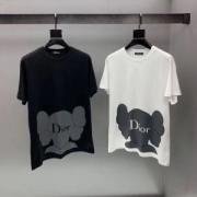 大胆に取り入れたスタイル ディオール 落ち着いた印象に仕上げ  DIOR キレイめでクラシカル 2色可選 ファション人に必須アイテム 半袖Tシャツ