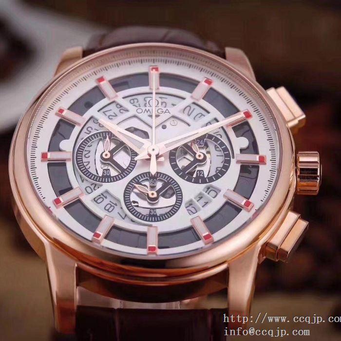 新作登場 2018春夏新作4色可選 オメガ 43mmx12mm omega 男性用腕時計