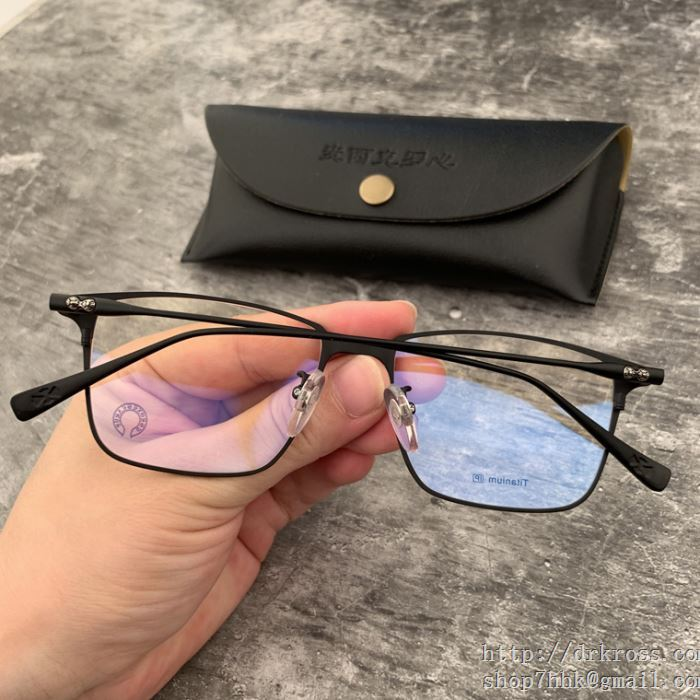 クロムハーツ chrome hearts 眼鏡 3色可選 トレンドを取り入れた2019流行 程良いハリ感で高級感のある仕上