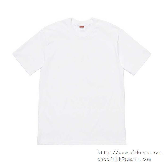Tシャツ/半袖 2色可選 今季も引き続きブランド supreme 19ss headline tee
