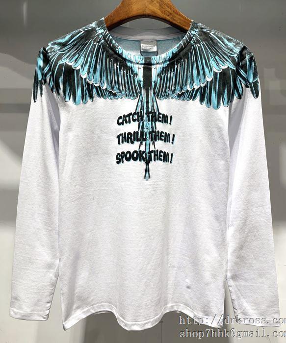 幅広いスタイルにコーディネート vip saleスタート19/20aw 新作 マルセロバーロン marcelo burlon 長袖tシャツ 2色可選