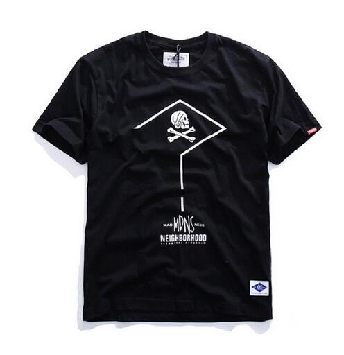 芸能人愛用tシャツNEIGHBORHOOD ネイバーフッド通販ブラックメンズmdns nbhd半袖スカルtシャツ ブラッククエスチョン・マーク