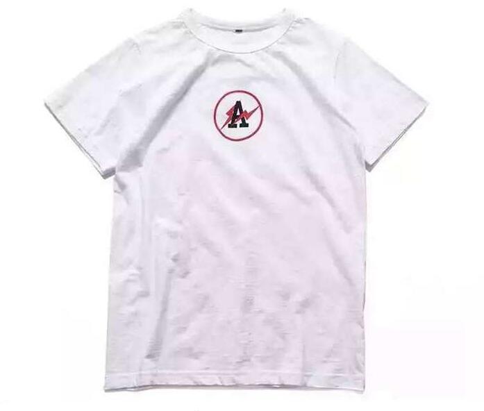 メンズファッション ブランドOff-White オフホワイト 人気半袖 クルーネックコットンメンズTシャツホワイト ブラック プリントアメリカン夏服