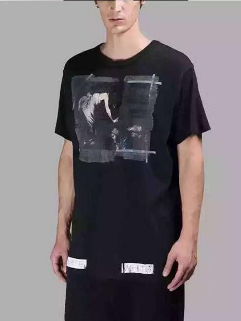 2017 おしゃれ新作OFF-WHITE オフホワイト tシャツ 格安 メンズクルーネックプリント半袖Tシャツ 夏服 ストリートカジュアル