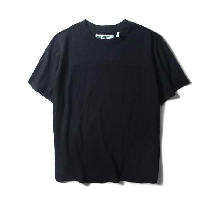 超激得100%新品OFF-WHITE オフホワイト コピー 激安 半袖tシャツ メンズ シンプル カジュアル新作コットン ブラック ホワイト