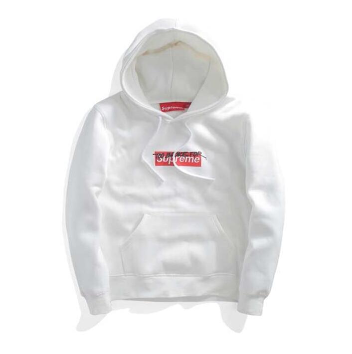 シュプリーム コムデギャルソン シャツ SUPREME x COMME des GARCONS SHIRT Box Logo Hooded Sweatshirt ボックスロゴ スウェットパーカー ホワイト
