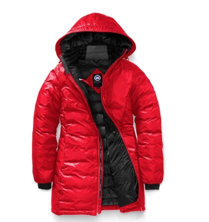 2017秋冬 カナダグース CANADA GOOSE ダウンジャケット CAMP HOODED JACKET FUSION FIT 5061LA ブラック レッド ロングコート