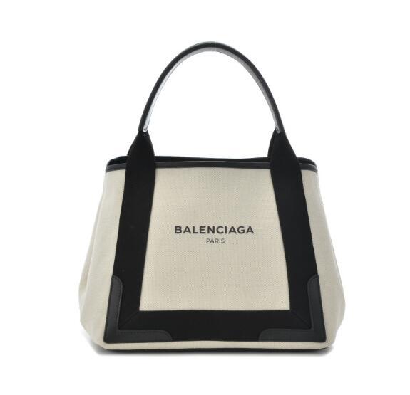 バレンシアガ バッグ BALENCIAGA 大人気 2017年秋冬新作 NAVY CABAS トートバッグ 339933 AQ38N 1081 ホワイト