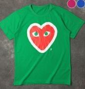 鮮やかなカラーCOMME des GARCONS  コムデギャルソン  販売コピー半袖 UネックTシャツ_品質保証