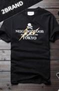 強いストリート感NEIGHBORHOOD ネイバーフッド  Uネック半袖Tシャツ スカル プリント_品質保証
