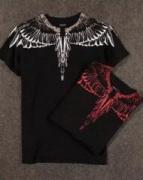 相性抜群MARCELO BURLON マルセロバーロン 半袖ブラックTシャツ 夏服_品質保証