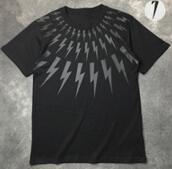 目を引くNeil Barrett ニールバレット 半袖 Tシャツ新作 コピー通販ブラック ホワイト_品質保証
