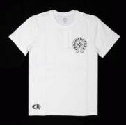 上品なs級アイテムCHROME HEARTS クロムハーツ ブラック ホワイトUネック 半袖Tシャツ_品質保証
