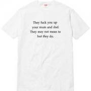2色可選 クールビズ 最高品質 2017春夏  supreme fuck you up tee 半袖Tシャツ_品質保証