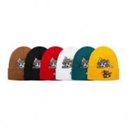 17SS ロゴ刺繍 爆買い豊富な  2色可選  シュプリーム SUPREME   ニット帽 流行り_品質保証