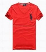 吸汗速乾性に優れているPolo Ralph Lauren ポロ ラルフローレン  Vネック半袖Tシャツ  4色_品質保証