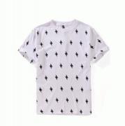 フラッシュサンダーデザインNeil Barrett ニールバレット tシャツ 半袖 ブラック ホワイト_品質保証