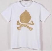 スゴイ人気COMME des GARCONS コムデギャルソンGOLD RUSH KEWPIE SKULL TEE  半袖ホワイトTシャツ200-006966-040_品質保証