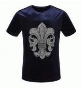 ビジューロゴ男性用TシャツCHROME HEARTS クロムハーツ tシャツ コピー クルーネック半袖メンズ_品質保証