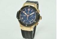 ウブロ 時計 コピーhublot ビッグバン 時計 メンズウォッチ ブルー文字盤自動巻き 6針 ブラックラバー 44.5MM_品質保証