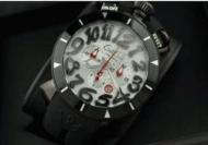 ガガミラノ 時計 コピー gaga milano メンズ 時計クロノ48MM CHRONO 48MMステンレス 6針 ブラック ラバーベルト 日付表示_品質保証