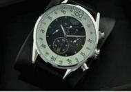 メンズ時計おしゃれ レザーベルト タグホイヤー TAG HEUER カレラ 人気限定セール時計 ウォッチブラック_品質保証