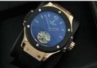 大特価!HUBLOT ウブロ腕時計 人気ビッグバン メンズ 時計トゥールビヨン ラバー ゴールドサファイヤクリスタル風防_品質保証
