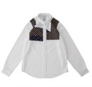 パッチワークデザイン VISVIM 通販ビズビム  コットン ダメージ加工 メンズ シャツ長袖シャツ 着抜プリントホワイトシャツ_品質保証