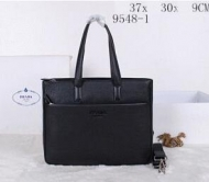 PRADA プラダ コピー メンズ用 手持ちバッグ 鞄ショルダー ハンドバッグ ブラックレザートートバッグ_品質保証