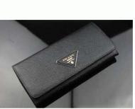 プラダ PRADA 長財布 三角エンブレムロゴ SAFFIANO TRIANG ブラックメンズ レディース ロングウォレット 1MH132 QHH F0002_品質保証