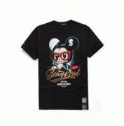 ネズミプリントメンズtシャツステリア STAYREAL 通販 人気 半袖tシャツ クルーネック ブラック メンズ レディース服 夏_品質保証