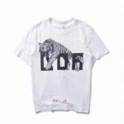 OFF-WHITE Tシャツ新作 オフホワイト tシャツ 通販 メンズ 半袖 虎プリントクルーネック コットン カジュアルロゴT 夏服_品質保証