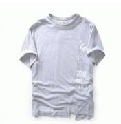 OFF-WHITE オフホワイト tシャツ メンズ ストリート半袖 プリント 2017新作 Tシャツ クルーネック 切り替え_品質保証