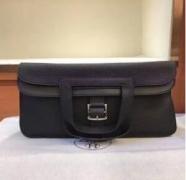 HERMES エルメス 人気レディーストートバッグ アルザンレザーミ ニバッグ ブラック ハンドバッグ 4色H069523CKAH_品質保証