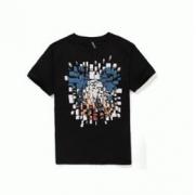 Neil Barrett ニールバレット 通販 メンズ半袖Tシャツ レディース 服ミッキープリント ブラック ホワイト コットン クルーネック_品質保証