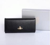Vivienne Westwood ヴィヴィアンウエストウッド ブラックレディース長財布 レザー BLACK SAFFIANO 2800 PURSE_品質保証