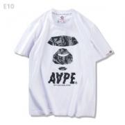 男女兼用 半袖Tシャツ ア ベイシング エイプ A BATHING APE 2色可選 耐久性に優れ 2017春夏_品質保証