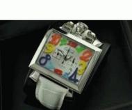 GaGa Milano ナポレオーネ ガガミラノ コピー 腕時計 日付表示 夜光効果 ホワイトレザー 時計 メンズ ウォッチ 生活防水_品質保証