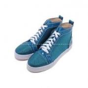 CHRISTIAN LOUBOUTIN クリスチャン ルブタン スニーカー ストラス 靴 Louis Flat シューズ メンズ ブルー 人気  ハイカット ルイス