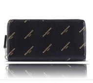BALENCIAGA バレンシアガ  メンズ  オールオーバー ロゴ コンチネンタル ジップアラウンド 長財布 ウォレット レザー 本革 大人気 高品質 4851440AD2N1060