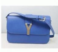 高級感 お得人気セール イヴ サンローラン Yves Saint Laurent バッグ チャーミング 女性用 レディース ショルダーバッグ ブルー 高品質