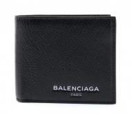 高品質 新品 BALENCIAGA 財布 ミニ 二つ折り バレンシアガ コピー 財布 ウォレット ブラック メンズ 財布 2018春夏新作 レザー 黒 革