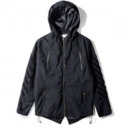 2018年秋冬人気ジャケット メンズオフホワイトOFF WHITEコートダブルファスナーデザイン男性用服新作新品アウターロゴ入り