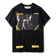 OFF-WHITE オフホワイト 半袖Tシャツ BLACK 7 OPERE T-SHIRT 人気 Tシャツ メンズ レディース コットン クルーネック プリント 2018春夏 ブラック