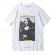 2018SS 新作 オフホワイト 半袖Tシャツ OFF-WHITE omaa002s180010121001 ホワイト メンズ BLACK MONALISA S/S T-SHIRT 人気 omaa002s180010120110 綿 ブラック 男女兼用