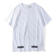 着心地いいOFF WHITE人気春夏服オフホワイト Tシャツ2018新作シンプルメンズブラックホワイトレディースコットンクルーネック半袖べシーク