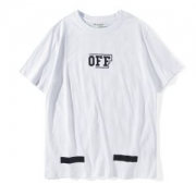 2017FW オフホワイト BRUSHED T-SHIRT 半袖Tシャツ OFF-WHITE 大人気 Tシャツ メンズ OMAA002F171850170110 男女兼用 コットン 白 黒 クルーネック