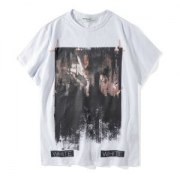 OFF WHITE2018春夏半袖オフホワイト Tシャツ 格安人気メンズプリント新品新作おしゃれコットンブラックレディースクルーネックホワイト