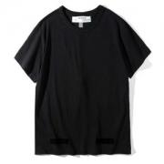 爆買い2018半袖オフホワイト TシャツメンズファッションOFF-WHITEコットンシンプルクルーネックトップス春夏男性用服存在感を放つブラック