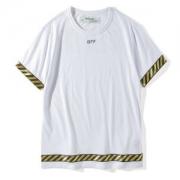 OFF-WHITE 大人気春夏 オフホワイト ブランド ロゴ  Tシャツ 半袖Tシャツ メンズ レディース 綿 クルーネック ホワイト ブラック ボーダー 高品質